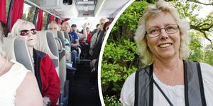 Lokalhistorikern Maria Landin bussguidar vid ett flertal tillfällen under sommaren. En tur går till galgbacken i Jordbro.
