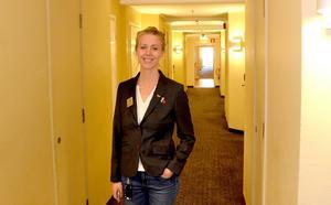 Hotellchefen Caroline Cato.