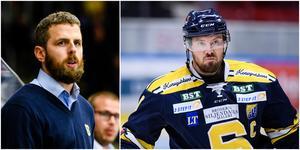 Ulf Lundberg strör lovord över NIcklas Grossmanns professionalism som spelare – och hans långa NHL-karriär. Foto: Bildbyrån. Montage Mittmedia.