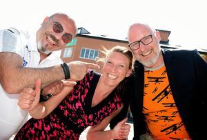 Visionärerna Nico Eremidis, Sofia Elmgren och Adam Svensson är taggade på att ta plats i Visionspalatset.
