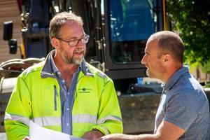 Anläggningschef Stena Valfridsson och projektören Fredrik Lindberg.