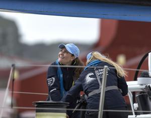 När Volvo Ocean Race-båtarna seglar i Göteborgs hamn för kronprinsessan Victoria följa med som som gästgast. Foto: Thomas Johansson / TT