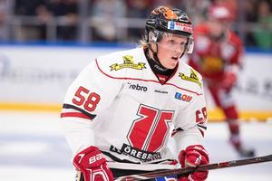 Anton Johansson i Örebrotröjan. Bild: Daniel Eriksson/Bildbyrån