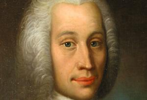Anders Celsius på ett porträtt av Olof Arenius från första hälften av 1700-talet. Bilden är beskuren.