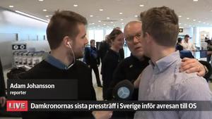 Leif Boork i Hockeypuls sändning. Bild: Mittmedia.