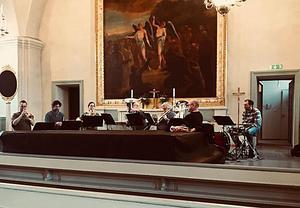 På fredag den 18 maj vankas brass- och orgelmusik i Gustafs kyrka.Foto: Daniel Larsson