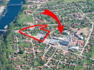 Fastigheten som familjebolaget Strid & CO ligger nära planprogramsområdet. Foto: Leksands kommun