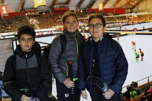 Ronny Suleiman 11 år, Elis Illerhag 11 år och Sixten Illerhag 11 år spelar i Andersberg IBK pojkar 11. När tidningen träffar dem har de vunnit en match och förlorat en.