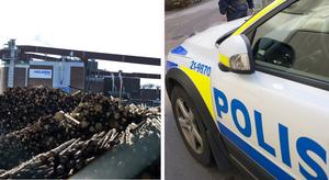 Granaten hittades i ett träd på pappersbruket i Hallstavik. Arkivbild: Bertil Enevåg Ericson, Fredrik Sandberg/TT