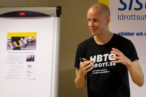 Christoffer Smitz föreläser i dag om hur vi kan nå ett mer inkluderande klimat inom idrottsvärlden.