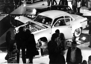 Leif Nilsson, Frösön, ställde ut en Ford Coupé 1951 på mässan 1978.