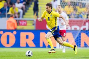 Albin Ekdal var mest intressant i det svenska laget på lördagen. Foto: Andreas Sandström/Bildbyrån