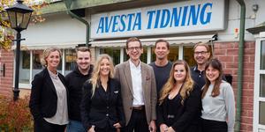 Redaktionen på Avesta Tidning.