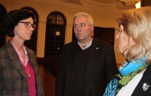 Ulrika Heie, riksdagsledamot från Skövde och Anders W Jonsson, vikarierande partiledare för Centerpartiet.