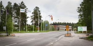 I närheten av den gamla regementsgrinden till Ing-1 i Almnäs pågår detaljplanearbetet. Arkivbild: Karolina Önnebro