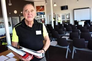Stig Emtesten, från Motala, hade hand om de övningarna som berörde elnät.
