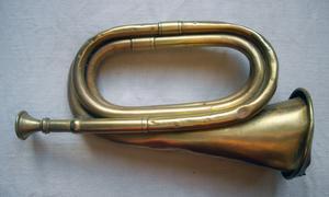 Ett gammalt posthorn, men de äldsta såg annorlunda ut, enligt författaren. Foto: Erik J Bergström.