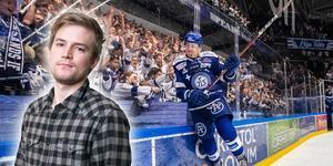 Leksands lagkapten Martin Karlsson firar segern med Leksand Superstars. Foto: Daniel Eriksson/Bildbyrån.