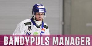 Joakim Andersson är dyrast i Bandypuls Manager.