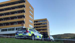 Polisen spärrade av den misstänkta brottsplatsen.