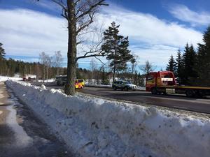 En buss och fem bilar var inblandade i trafikolyckan mellan Bergsgården och Grycksbo.