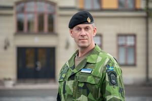 Överste Jonny Lindfors,  regementschef Norrbottens regemente. Foto: Försvarsmakten.