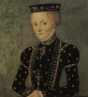 Katarina Jagellonica föddes som prinsessa i Polen. Genom äktenskapet med Johan III - son till Gustav Vasa - blev Kararina Jagellonica Sveriges drottning. Hon anses vara Sveriges enda renässansdrottning. Med sina politiska kontakter, sina kulturella intressen och sin religiösa övertygelse var hon betydelsefull och inflytelserik. Hon dog på Stockholms slott 1583 och är begravd i Uppsala domkyrka.