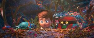 Willy hamnar på en okänd planet, där han får hjälp av en ordningsam robot i