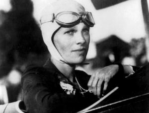 Amelia Earhart.Bild: AP
