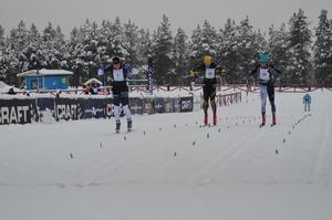 Fredrik Byström var starkast i spurten.Foto: Privat