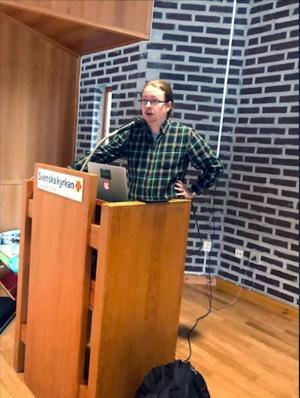 Micael Grenholm i Örnsköldsviks församlingshem.