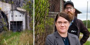 Elin Hjulström Lord och Viktor Zeidner från kulturföreningen PUSH ska arrangera konsert i bergrummet i Söderhamn.
