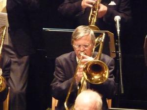 Tommie Saur övergick så småningom till att spela trombon. Här på en konsert för omkring tio år sedan, berättar Nore Sundqvist som har tillhandahållit bilden.
