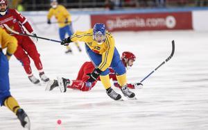Inget spel i landslaget för Joakim Andersson – den här gången. Foto: Rikard Bäckman / Bandypuls.se / TT