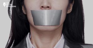 Skärmdump från Civil rights defenders rapport som är ett samarbete med Stiftelsen Natur & Kultur: När samhället tystnar.