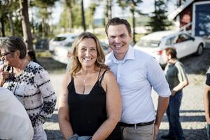 Erika Sjödin (C) och Marcus Edström (C).