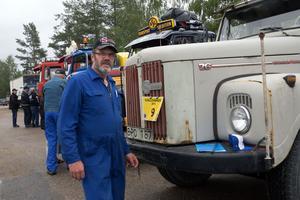 Göran Persson från Ljungdalen med sin veteranlastbil.