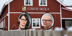 Jimmy Karlsson (BP) får vänta på svar av Ulrika Liljeberg (C) om framtiden för byskolorna i Leksand.