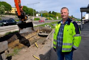 Sundsvall Energi kommer att byta fjärrvärmeledningar vid gamla E4 och det kommer att påverka trafiken under de kommande veckorna.