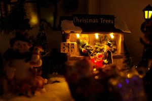 Julbyn kan man sitta och titta på länge och hela tiden hitta nya små saker.