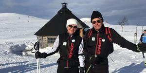 Margareta och Mats Henriksson är spårvärdar på Lofsdalsspår. Foto: Privat
