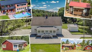 Ett montage med fem av de hus som är med på Dalarnas Klicktoppen för förra veckan, vecka 22.