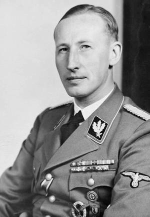 Reinhard Heydrich ledde mötet vid Wannsee. Han dog efter att ha blivit skjuten vid ett attentat i Prag 1942.  Foto: Wikimedia commons
