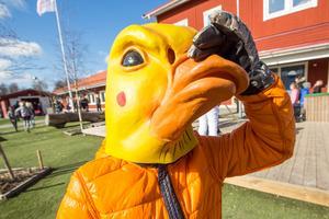 Ankunge. Ett av flera färggranna inslag under temadagen på Nya Karlslundsskolan.