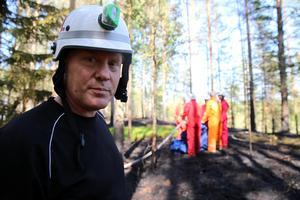 Styrkeledare Älvdalens brandkår Roger Lindberg.