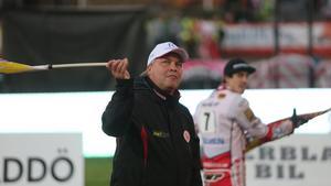 18 september gjorde Mikael Teurnberg sin sista insats som lagledare för Rospiggarna. (Arkivbild)