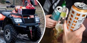 Fyrhjuling och alkohol – ingen bra kombination. Fyrhjuling på bilden är inte den som nämns i artikeln.
