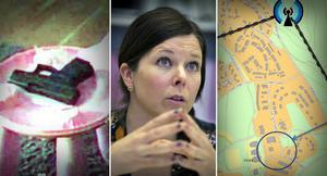 Fotomontage: Mikael Hellsten/Polisens förundersökning. Uppgifter tyder på att mordvapnet gömdes i Borlängeområdet Skräddarbacken efter dådet vid Kupolen. Än är det dock inte hittat.