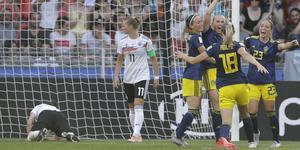 Sverige vann VM-kvarten mot Tyskland med 2–1. Foto: TT