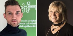 Emil Larsson, ledare på Näringslivsforum Skövde och Rose-Mharie Åhlfeldt, biträdande professor i informationsteknologi, är två av skribenterna bakom debattartikeln. Foto: Privat/Högskolan i Skövde
